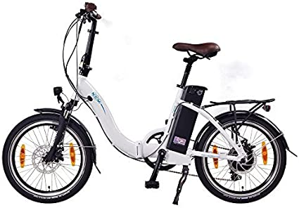 NCM Paris Bicicleta eléctrica Plegable, 250W, Batería 36V 15Ah • 540Wh (Blanco): Amazon.es: Deportes y aire libre