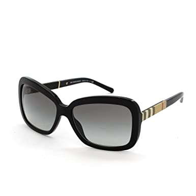 1b411d293945 Burberry BE4173 300111 Black BE4173 Rectangle Sunglasses Lens Category 2  Size 5