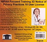 HIPAA Focused Training : Notice of Privacy Practices, 10 Users, Farb, Daniel, 1594911738