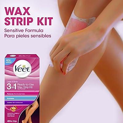 VEET Ready To Use Wax Strips Legs & Body 40 ea