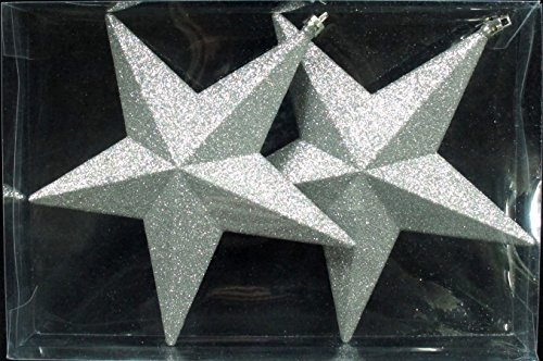 7.8 Queens of Christmas WL-Star-7.5-SV 5 Point Glitter Star Silver