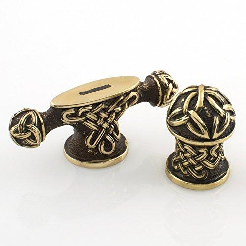 Polished Brass Custom Blade - Nice Set of Knife Finger Guard and Pommel for Making Custom Handles