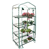 Greenhouse Covers Replacement 4 Tier, Oshide Garden Walk-In Greenhouse Cover (Iron Frame Was not Included)