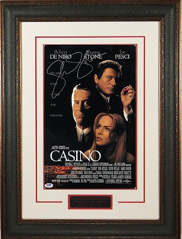 Sharon Stone Signed Autograph Casino 11x17 Movie Poster Leather Framed- PSA Hologram entertainment movie memorabilia
