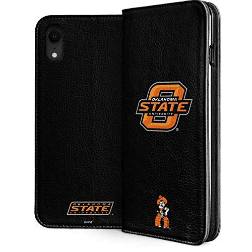 Skinit Oklahoma State University iPhone XR Folio Case - Officially Licensed Oklahoma State University Phone Case - Faux-Leather Wallet iPhone XR Cover