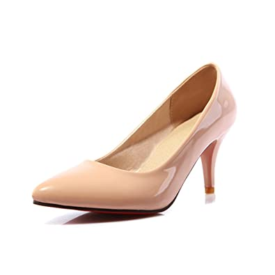 newest 63fe9 6a162 Amazon.com | Lucksender Womens Pointed Toe High Heels Red ...
