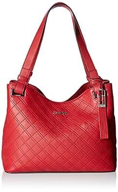 Calvin Klein Permanent Pebble Shopper, Red