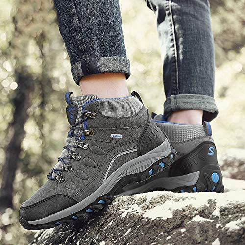 LILY999 Damen Wanderschuhe Schuhe Wanderstiefel Hiking Wanderhalbschuhe 1 Herren Grau Schuhe Trekking Rutsch Anti Outdoor Sneaker gaqgTr