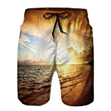 Best Atlantic gamer - PRUNUS Men's Print Shorts,Sunrise and Atlantic Ocean in Review
