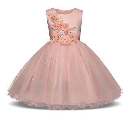 Tokkids Girl Flower Petals Dress Formal Wedding Bridesmaid Party Christening Princess Dresses (140)