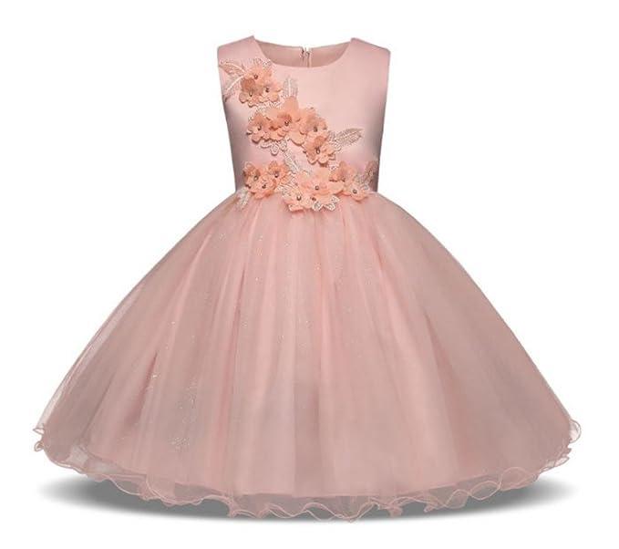 Tokkids vestido de comunión para niñas, vestido de cumpleaños de niña, princesa vestido,