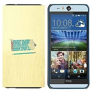 TECHCASE---Cubierta de la caja de protección para la piel dura ** HTC Desire Eye ( M910x ) ** --Diseño Crea Dios Bueno feliz Cita