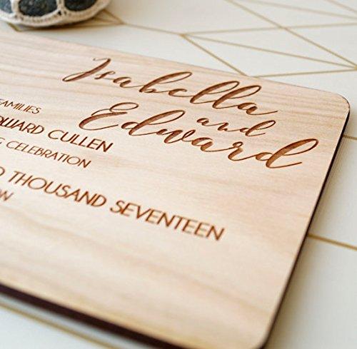 amazon com wedding invitation rustic wooden wedding invitation