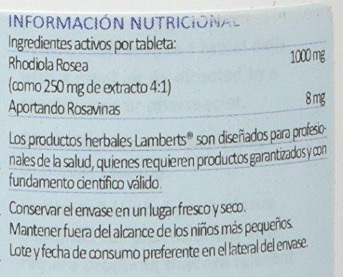 Lamberts Rhodiola Rosea 1000mg - 90 Tabletas: Amazon.es: Salud y cuidado personal