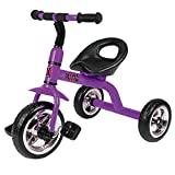 Xootz Tricycle for Kids, Trike Easy Clip and Portable - Purple
