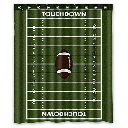 KXMDXA Custom American Football Field Pitch Shower Curtain Waterproof Polyester Bathroom 60 x 72 inch