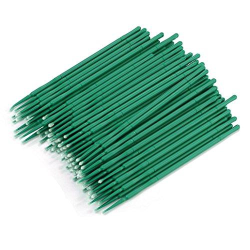 Green Free Sterilizer (Iusun 100Pcs Bottle Microblading Micro Brushes Swab Lint Free Tattoo Permanent Supplies (Green))