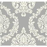 Candice Olson Inspired Elegance Aristocrat Wallpaper Color: Silver/Cream