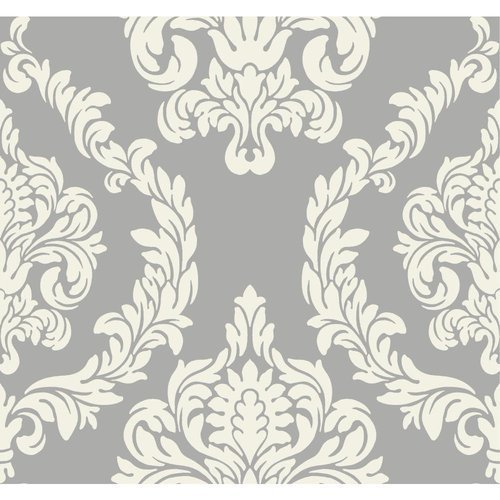 Candice Olson Inspired Elegance Aristocrat Wallpaper Color: Silver/Cream by York Wallcoverings