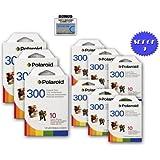 9 Pack Of Polaroid PIF-300 Instant Film for 300 Series Cameras + DBROTH Fiber Cloth