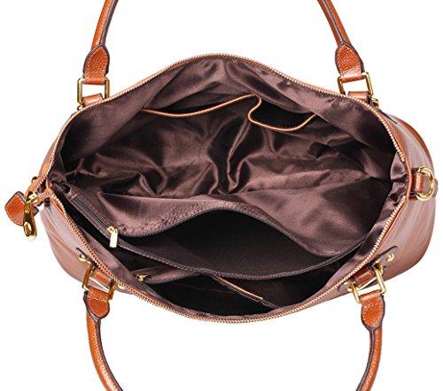 Shoulder BIG Bag AINIMOER SALE Vintage Large Women's Top Handbags handle Bags Leather Purse Sorrel Body Ladies std Cross YYrZqx