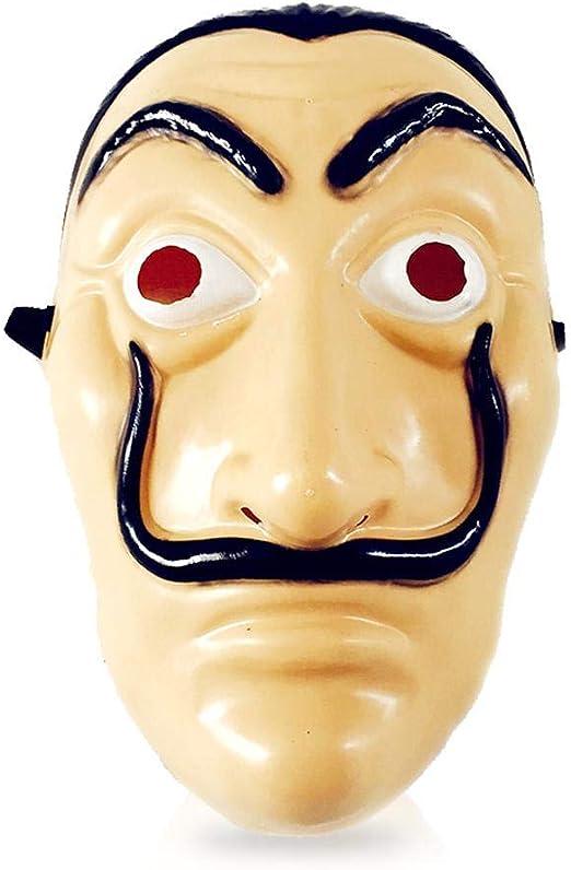 AOLVO - Máscara facial de Dali, La Casa de papel, máscara realista ...