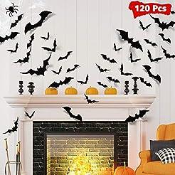 LUDILO 120pcs Halloween Bats Decorations...