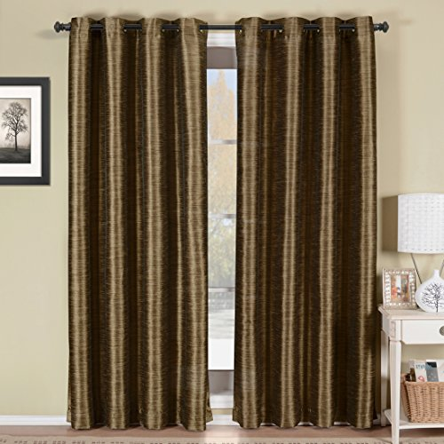 52″Wx84″L -Royal Tradition – GENEVA – Coffee- Multilayer Energy Savings Blackout Thermal insulated Window Grommet Panel. Package contains one Panel 84 inch long. For Sale