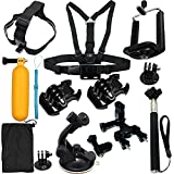 13-in-1 Camera Accessories Starter Bundle Attachments Kit for GoPro Hero 5 4 3 2 1 SJ4000 SJ5000 HD Action Video Cameras DVR by LotFancy