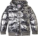 Appaman Kids Baby Boy's Puffy Coat with Hood and Front Pockets (Infant/Toddler/Little Kids/Big Kids) Gunmetal Camo 6