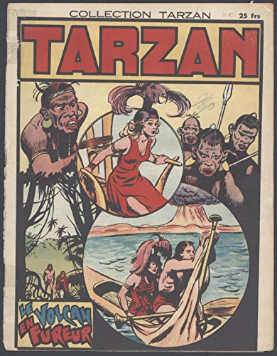 Collection Tarzan #29 Le Volcan En Fureur French Language Comic Newspaper 1946