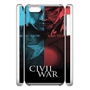 iPhone 6 Plus 5.5 Inch 3D Phone Case Captain America F6592721