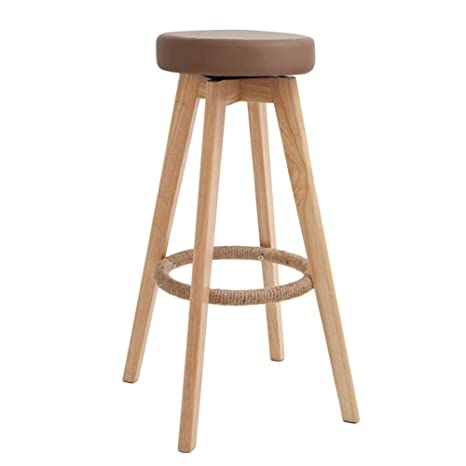Outstanding Amazon Com Barstools Chairs Stools Round Solid Wood Bar Machost Co Dining Chair Design Ideas Machostcouk