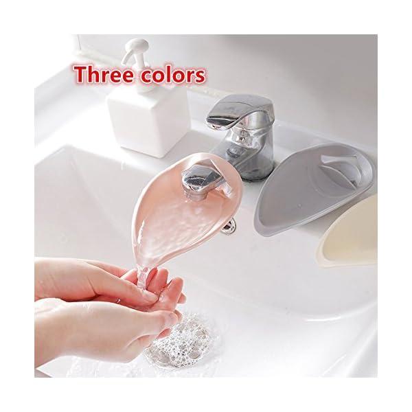 Foreverweihuajz-pratico-rubinetto-Extender-per-Todders-bambini-bambino-lavaggio-mani-bagno-rubinetto-di–facile-da-pulire-rosa