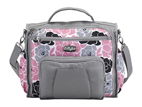 DEMDACO Lillybit Diaper Bag, Pink