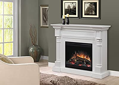Dimplex WINSTON MANTEL ELECTRIC FIREPLACE WITH LOGS WHITE FINISH