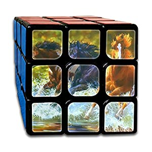 Horse RunningWater Splash 3x3x3 Rotational Cube Rubik's Puzzle For Anti-anxiety Adults Kids Adults
