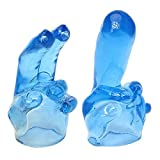 Mini Massager Accessories Attachments Massage Attachment Silicone (2Pcs/Set/Blue)