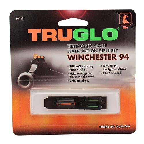 Truglo Green Rear Sight (TRUGLO Fiber Optic Rifle Sight Set - Winchester 94 Red/Green)