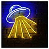 Alien Spaceship-B LED Neon Sign Lights Art Wall Decorative Sign Lights Night Light Holiday Birthday Party Supply Kids Room Home Decor