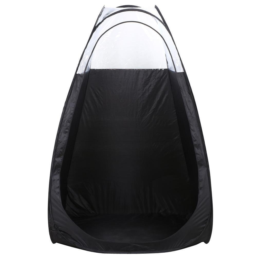 Yaheetech Portable Pop Up Tanning Tent Airbrush Makeup Sunless Over Spray Booth w/Bonus Carrying Bag Professional, 52 x 46.5 x 78.7'', Black