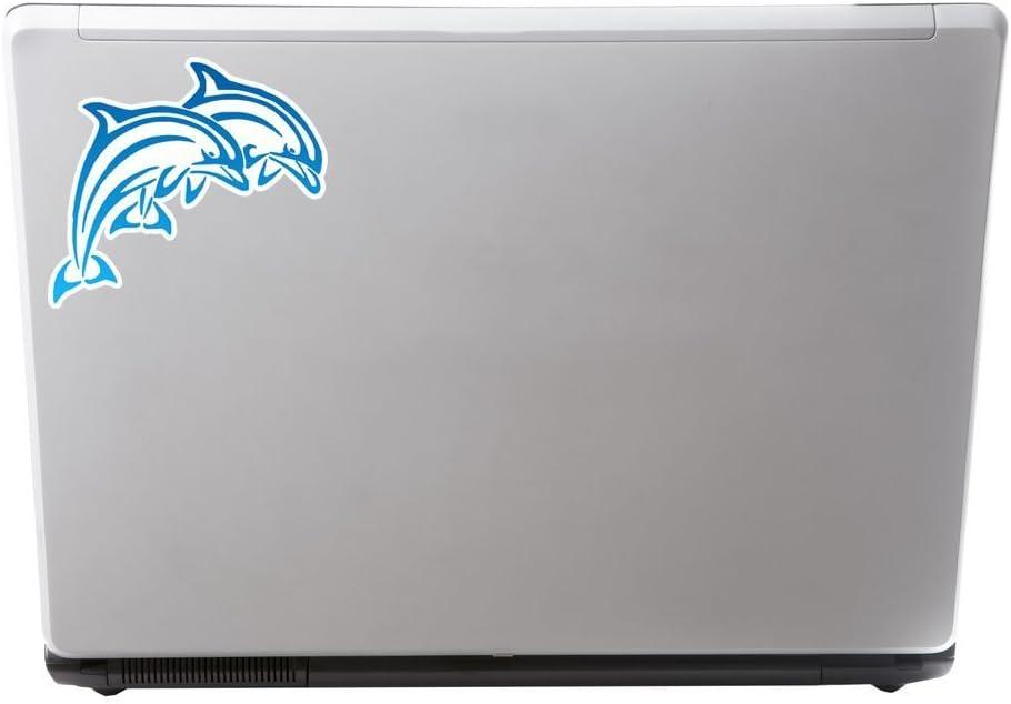 2 x 10cm//100mm delfini blu adesivo vinile adesivo da viaggio per portatile auto bagagli iPad segno divertimento #6245