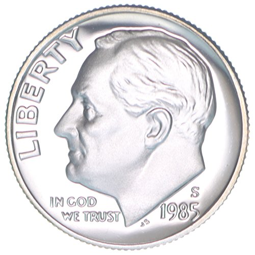 1985 S Proof Clad Roosevelt Dime PF1