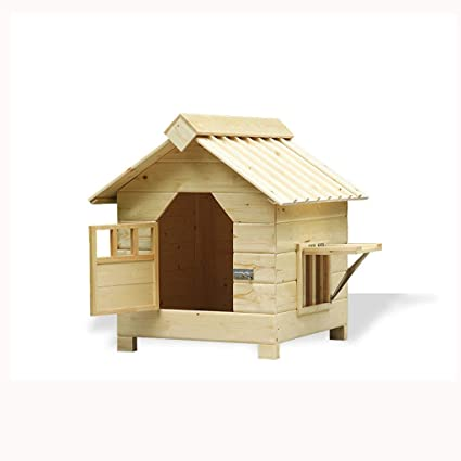 Lijin light Gran casa de Perro al Aire Libre de Madera a Prueba de Agua pequeña