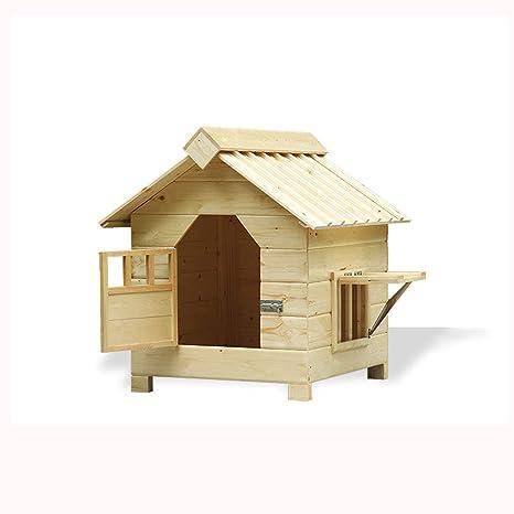 Lijin light Casa de Perro de Trompeta al Aire Libre de Madera a Prueba de Agua