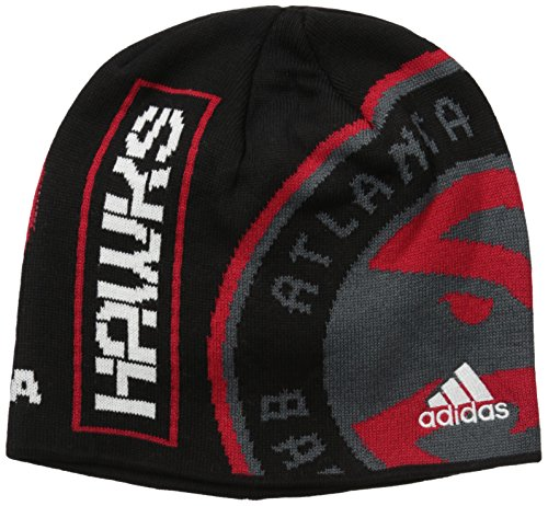 fan products of NBA Atlanta Hawks Gray/Black Cuffed Beanie, One Size, Grey/Black