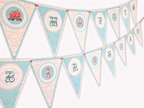 Vintage Chic Happy Birthday Banner Pennant