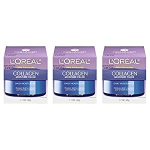 L'Oreal Paris Skin Care Collagen Moisture Filler Day/Night Cream, 1.7 Fluid Ounce, Pack of 3