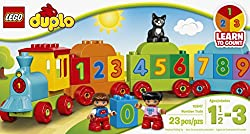 LEGO DUPLO Number Train 10847, Preschool, Pre-Kindergarten, Large Building Block Toys for Toddlers