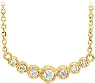 Look Gorgeous with CZ Graduated Bezel Set Necklace